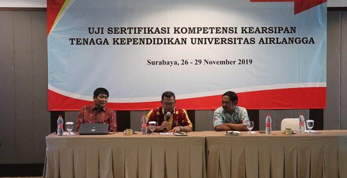Sertifikasi Kompetensi Kearsipan Universitas Airlangga